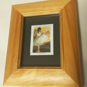 Other - NWOT Edgar Degas Stamp and Wooden Frame